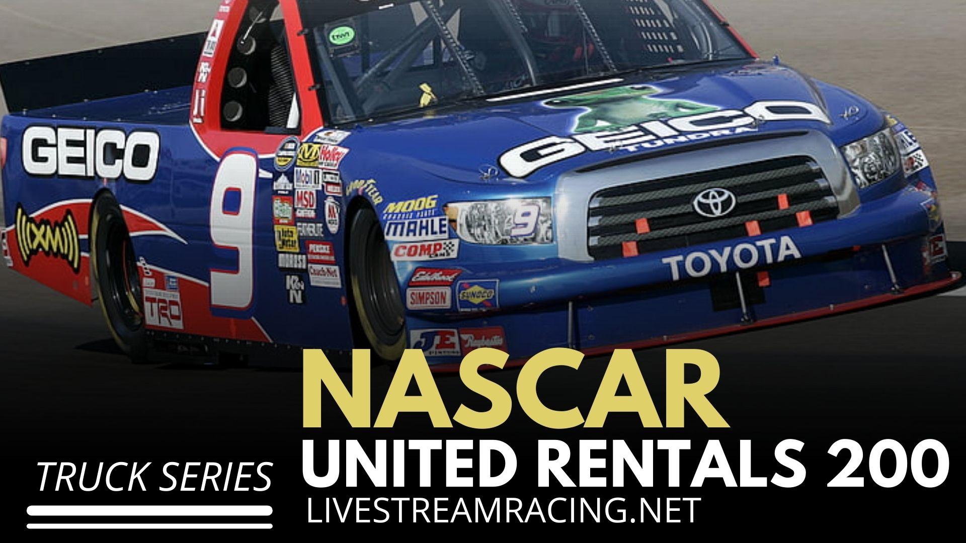 Nascar United Rentals 200 Live Stream 2021 - Truck Series